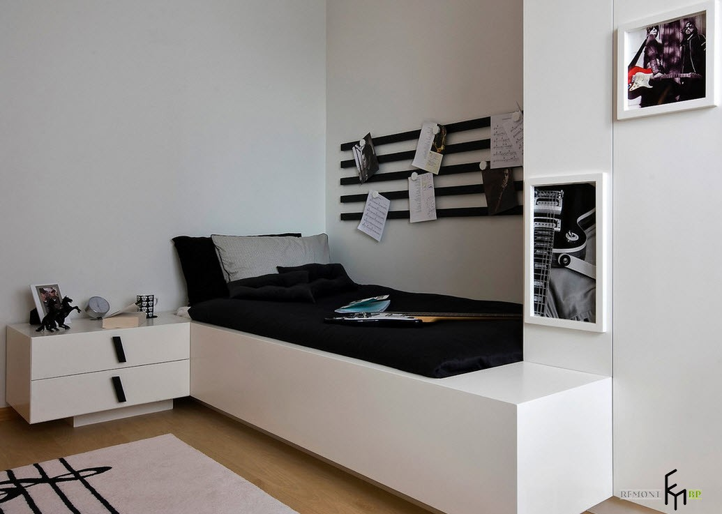 Компактная комната для юного музыканта