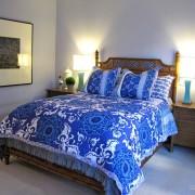 Синие цвета в спальне