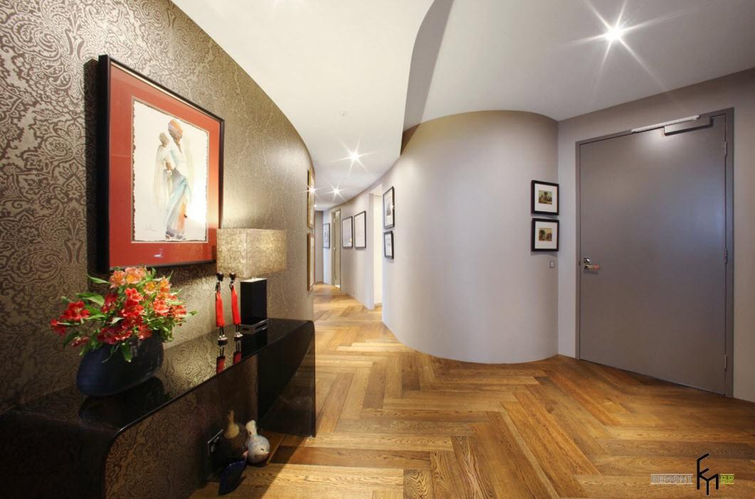 Оформление большого коридора