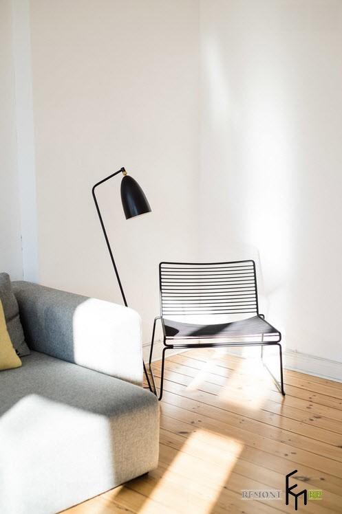 Необычный стул в скандинавском интерьере