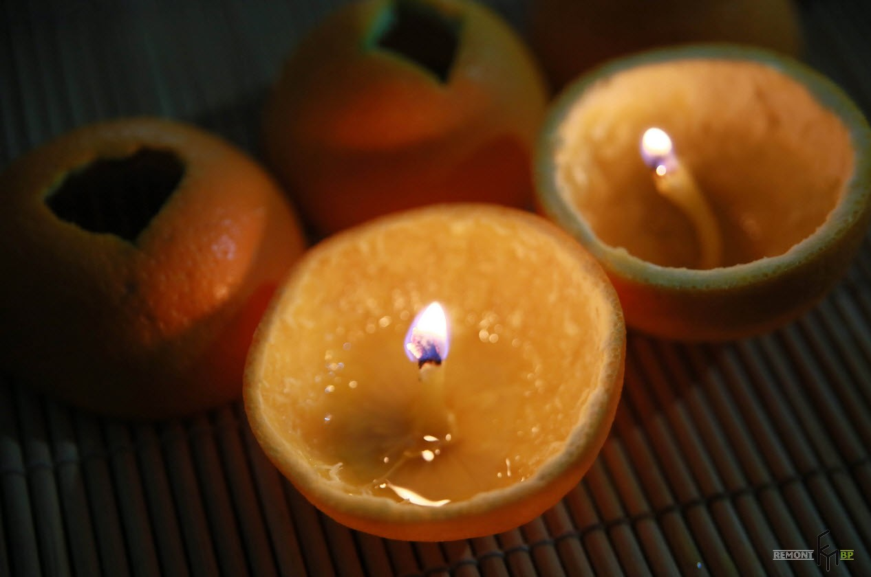 orange as a candle