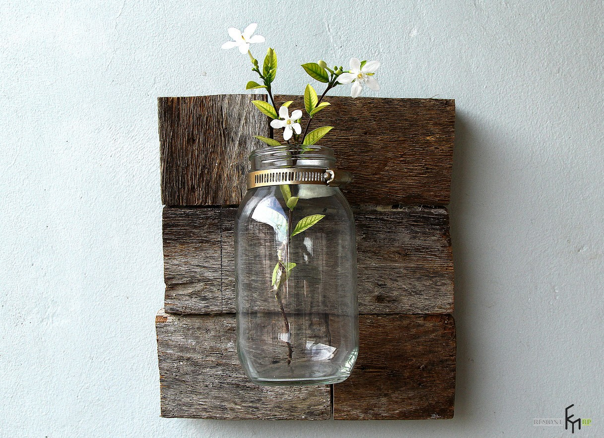Как сделать вазу в стиле кантри из простой стеклянной банки своими руками