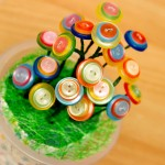 Как сделать оригинальный букет цветов из пуговиц