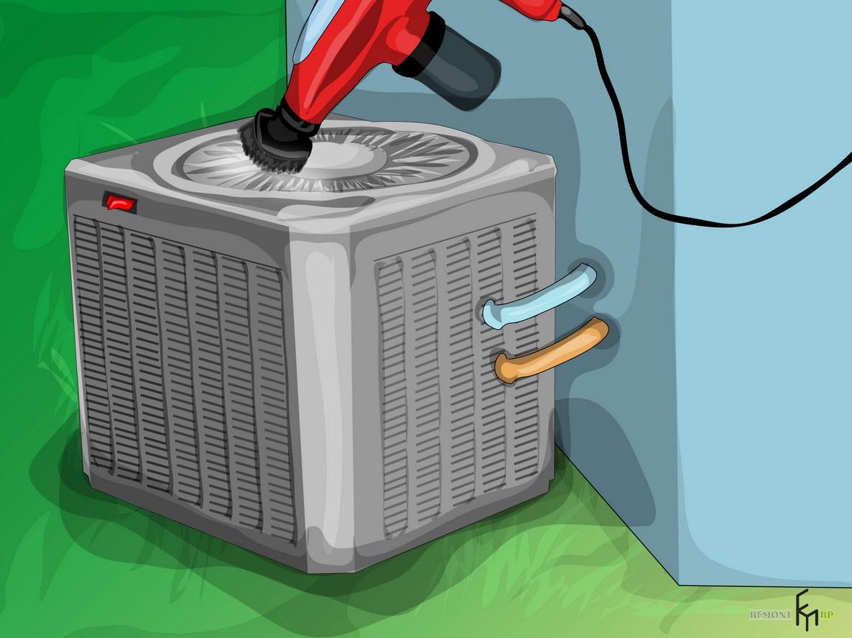 Второйспособ чистки кондиционера, второй шаг