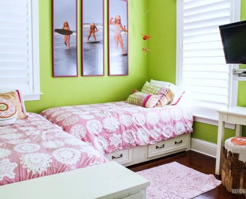 Угловое расположение кроватей