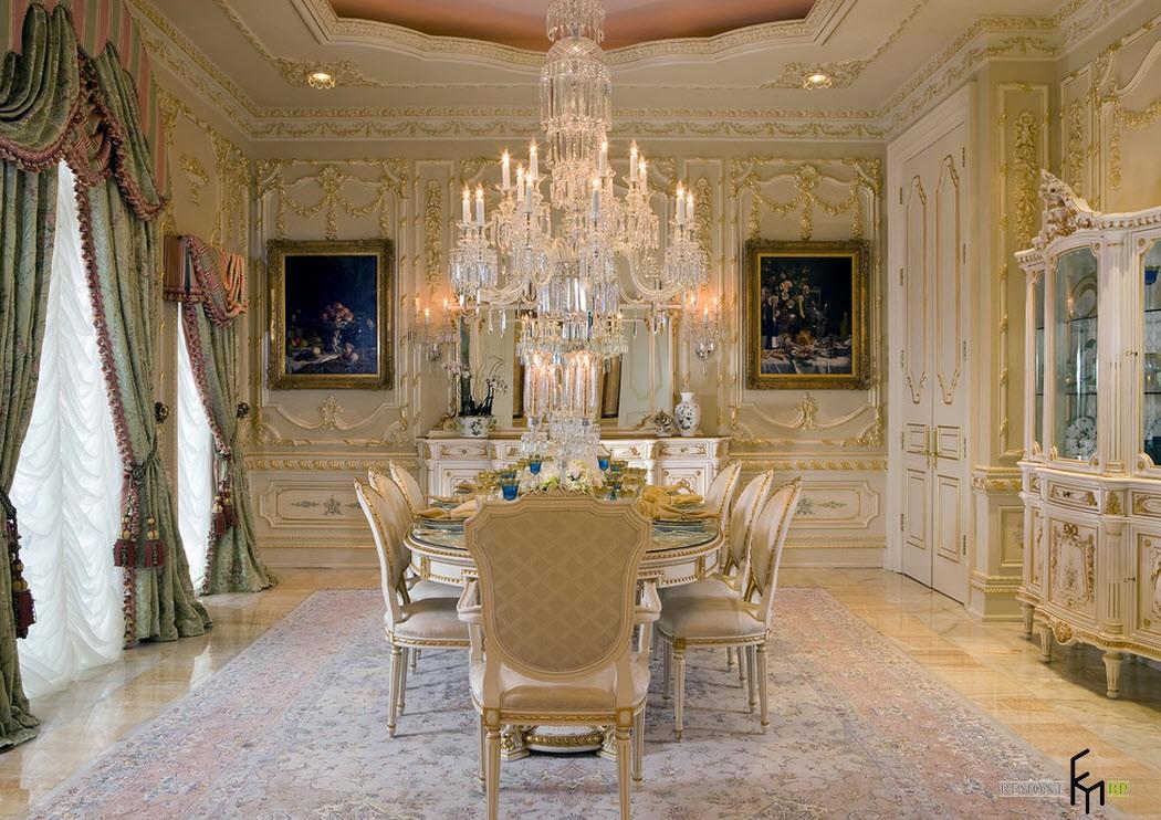 Гламурная роскошь столовой