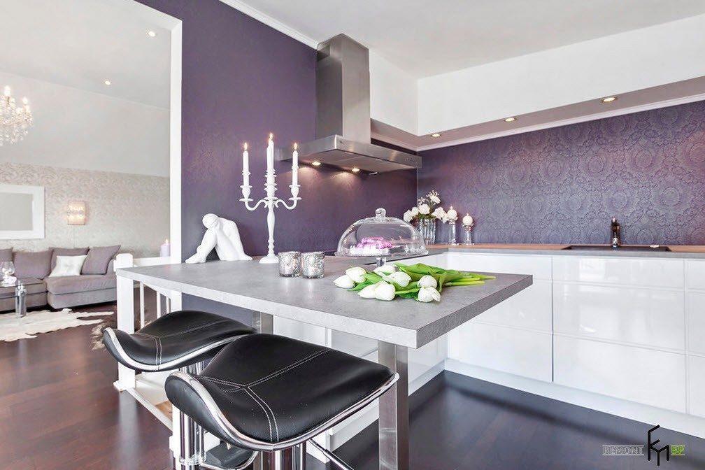 Бело-фиолетовые оттенки