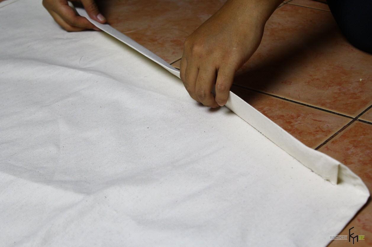 Второй шаг четвертого этапа изготовления кресла-гамака