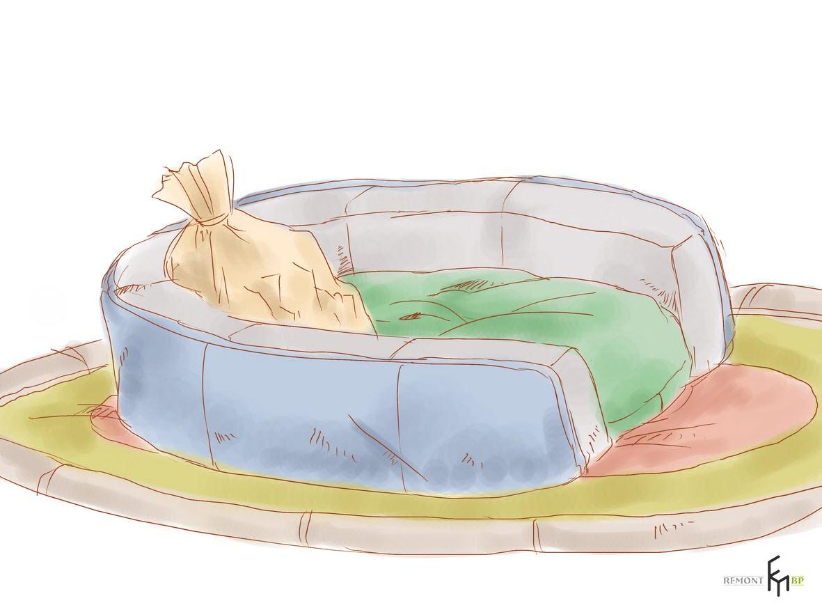 Мешочек с кусочками кедра в месте, где спит питомец