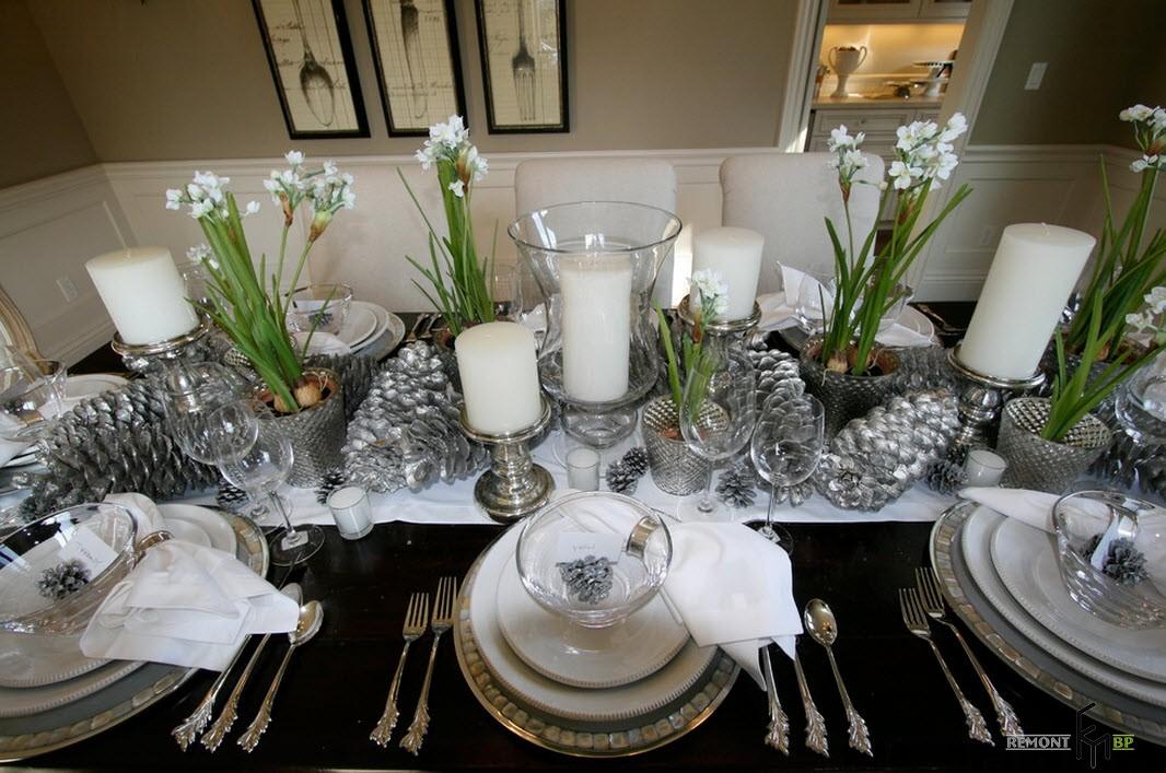 Гиацинты на новогоднем столе