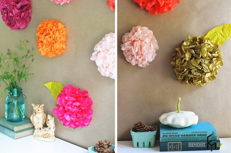 Изготовление декоративных бумажных цветов - 9