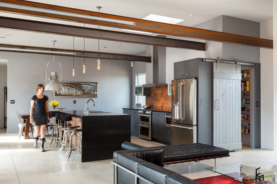 Кухня в заводском стиле