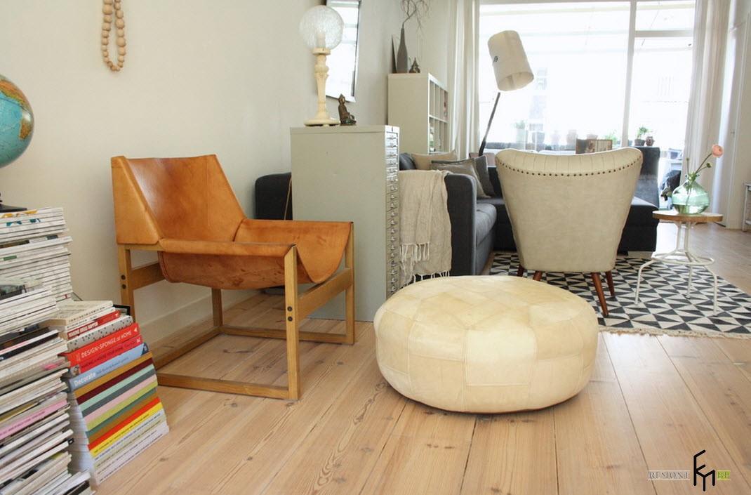 Уютное кресло из кожи