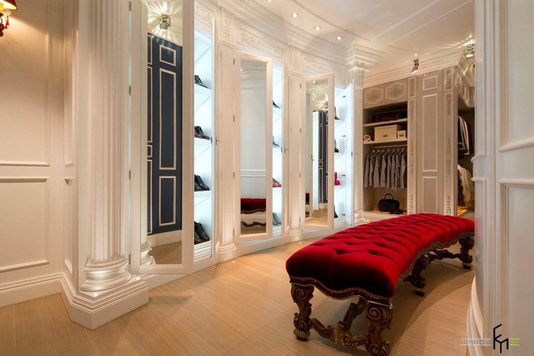 Эксклюзивный и роскошный дизайн квартиры в итальянском стиле