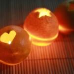 Креативный и очень оригинальный светильник-свеча из апельсина