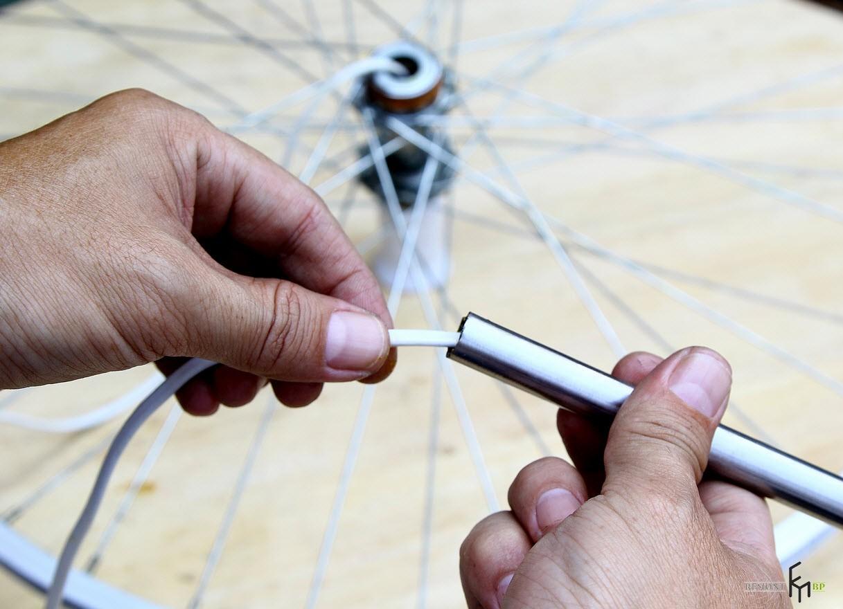 Как сделать креативную люстру из велосипедного колеса своими руками