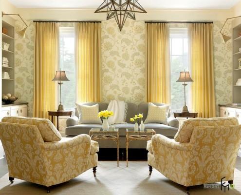Жёлтые шторы в жёлтой комнате
