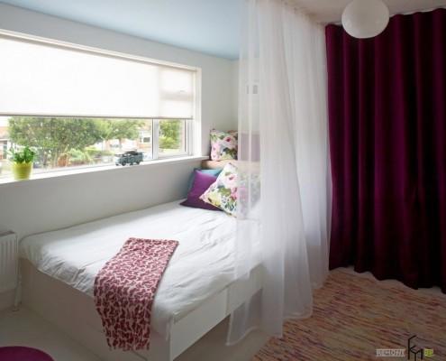 Спальная зона около окна